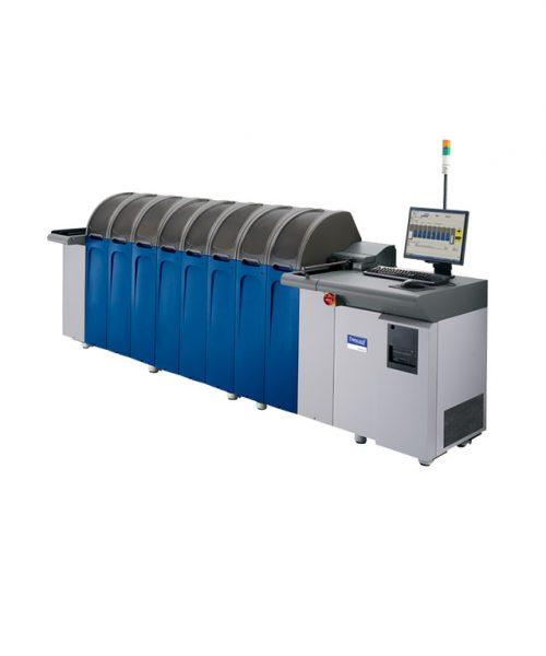 Datacard Mx6100 <br> <span class='secondary'> سیستم صدور کارت با سرعت ۱۸۰۰ کارت در ساعت، قابلیت ماجولار، حد اکثر تعداد ۲۸ ماجول انتخابی </span>