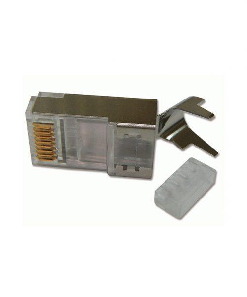 سوکت شبکه شیلد دار دینتک مدل Cat.6 FTP Solid